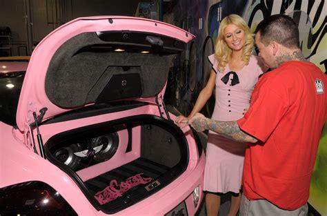 bentley van zaterdagavond paris hilton in een roze bentley autoblog nl