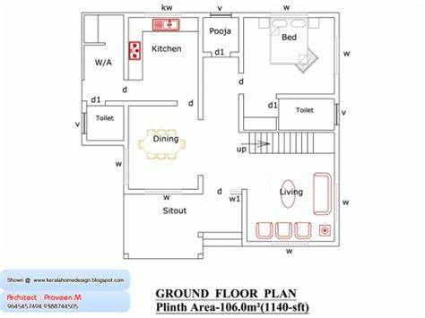 home design for 1000 sq ft in india wonderful indian house plan in 1000 sq ft home photos