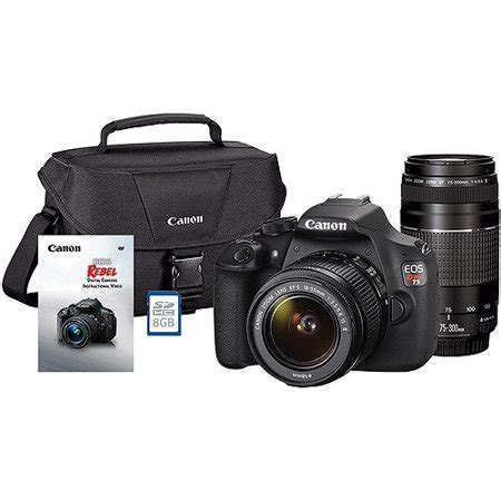 canon black rebel t5 18 mp digital slr camera bundle with