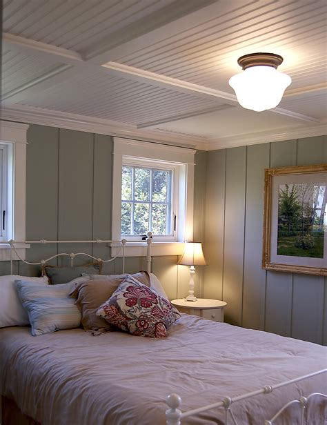 gulfshoredesign cottage bedroom with floor to ceiling