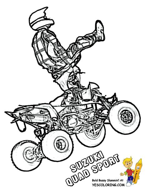 Galerry quad coloring pages printable