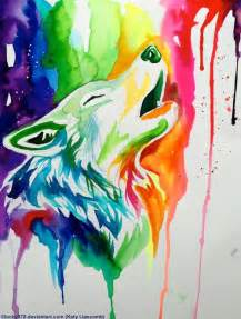 colorful wolf wolf painting professional doodling
