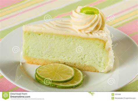 Lime Cheese Slice key lime cheesecake royalty free stock photos image 7637598