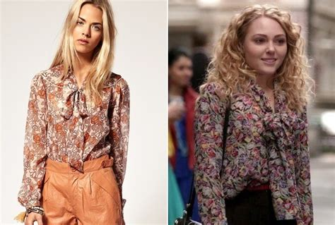 Carrie Diaries Tv Tie In by Annasophia Robb S Tie Neck Blouse On The Carrie Diaries