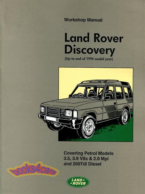 car repair manuals online free 1993 land rover range rover on board diagnostic system land rover discovery shop manual service repair book workshop 1989 1994 1993 92 ebay