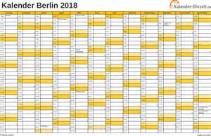 Kalender 2018 Mit Feiertagen Feiertage 2018 Berlin Kalender
