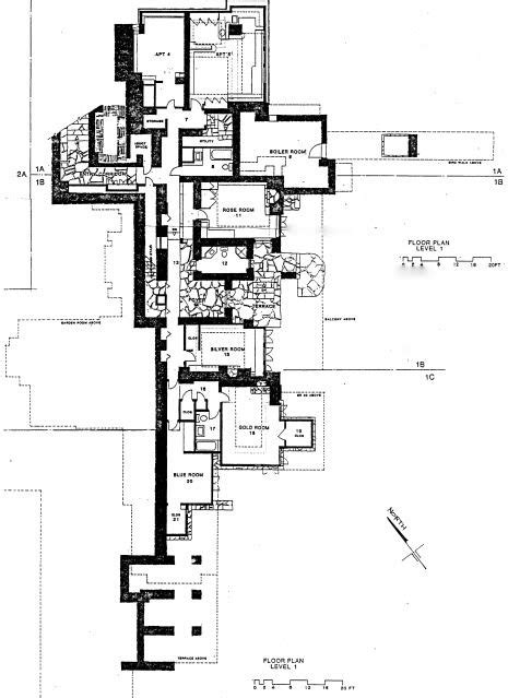 taliesin east drawing of an school notice proportions