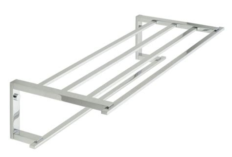 vado level towel shelf with towel rail lev 185b cp