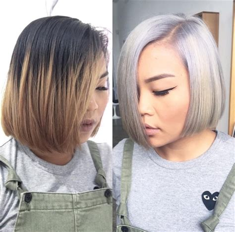 icy blonde on older women one session success working through old color to an icy