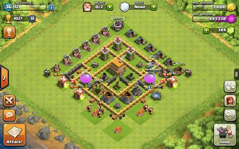layout coc town hall level 4 top 5 defensive layout for coc town hall 6 topp5