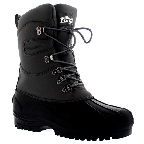 mens waterproof boots uk mens saftey hiking duck waterproof snow mucker thermal