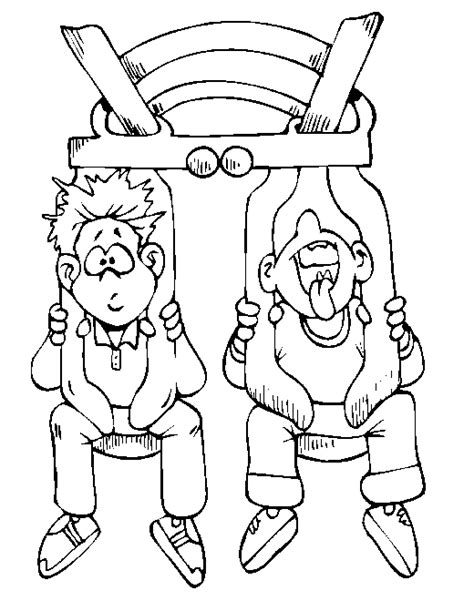 amusement park coloring coloring pages