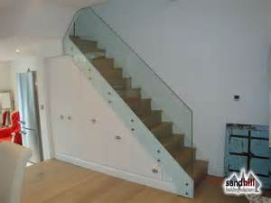stair renovation glass balustrade wine rack sw11