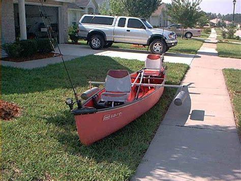 diy canoe stabilizer  colman rigged  homemade anchor system detachable folding