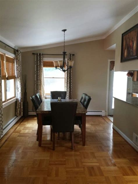 dining room kirkland s curtains wall color is behr s