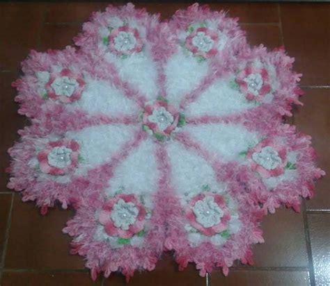 felpudo rosa tapete felpudo rosa ivone vargas elo7