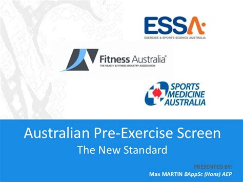 pre exercise screening form template australian pre exercise screen the new standard