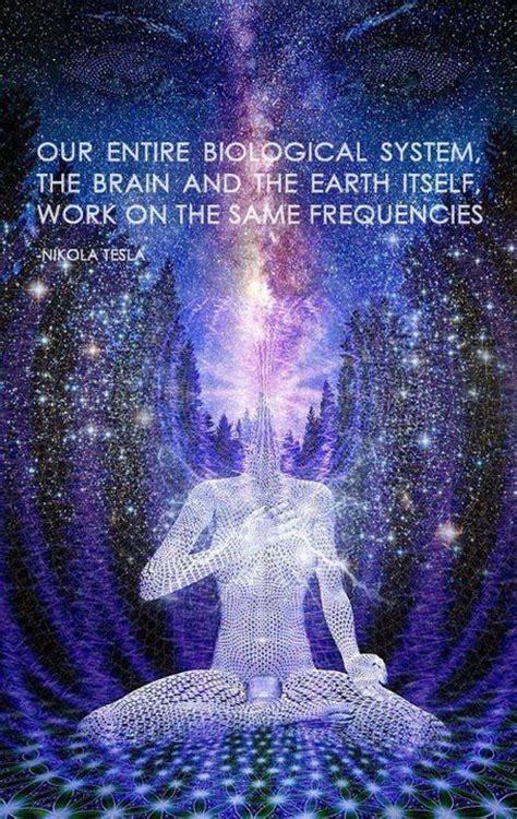 Tesla Meditation Quotes Moon Space Soul Earth Awake Wisdom