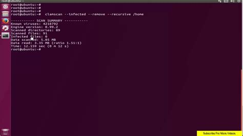 tutorial clamav ubuntu how to install clamav on ubuntu 17 04 zesty zapus youtube