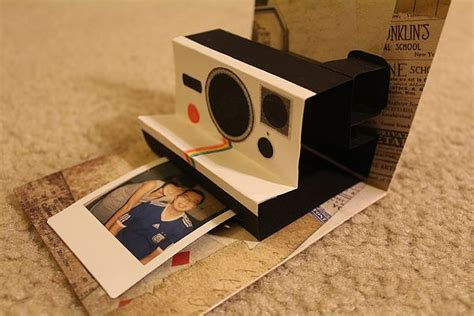 polaroid pop up birthday card with printable template 138 best images about popup on