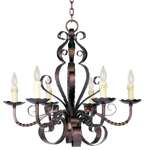 Rustic Candle Chandeliers Aspen Collection Six Light Large Candle Chandelier Traditional Chandeliers