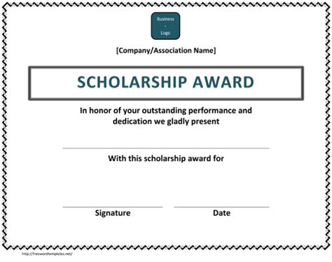 Scholarship Award Letter Exle 5 Plus Scholarship Award Certificate Exles For Word And Pdf