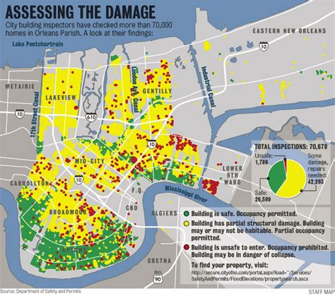 map of new orleans damage hurricane damage map image search results