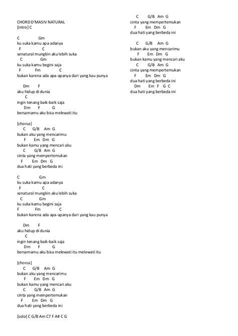 tutorial keyboard jangan menyerah chord lagu dmasiv natural chord lagu d masiv feat ariel