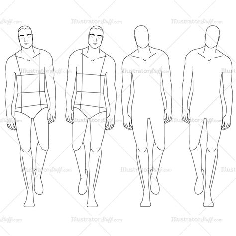 mens fashion templates fashion croquis template illustrator stuff