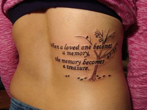 tattoo designs to remember a loved one when a loved one becomes a memory the memory becomes a