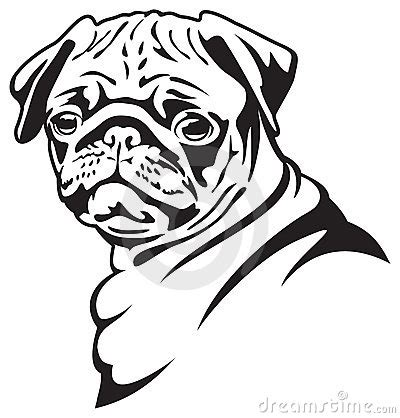 Pug Outline by Pug 20clipart Clipart Panda Free Clipart Images