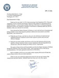 Statement Of Service Letter Templates by After Outcry Hagel Orders Review Of Hairstyle