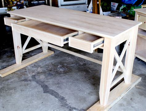 How To Build A Wood Desk by Diy Writing Desk
