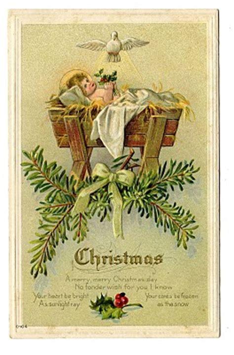 vintage christmas clip art baby jesus  manger