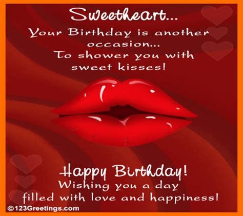 Greeting Card For Birthday To Lover Showering Kisses Free For Husband Wife Ecards Greeting