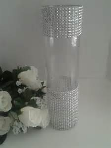 Tall Black Vases For Wedding Centerpieces 10 Wedding Centerpiece12h Tall Rhinestone Glass Candle