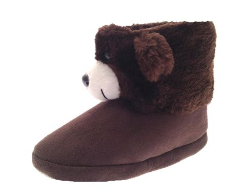 lapin house shoes kids girls novelty slipper boots booties teddy bear rabbit slippers size uk 9 3 ebay