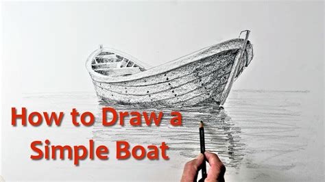 boat drawing for beginners draw a simple boat simple drawimng tutorial for beginners