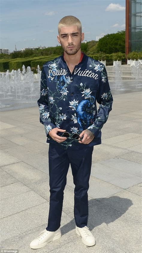 0210 Lv Piyama One 1 zayn malik wears silk shirt to louis vuitton show in
