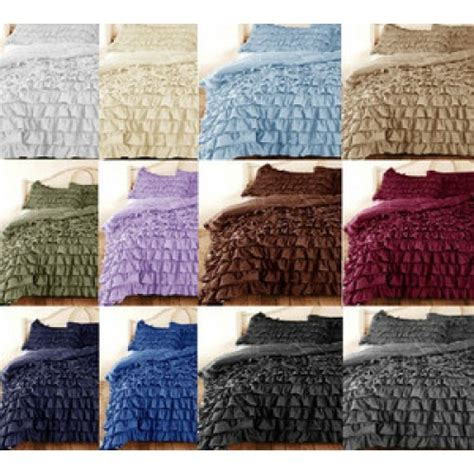 1000 Thread Count Duvet Cover King by Cotton Blue Ruffle Duvet Cover Set 1000 Thread Count