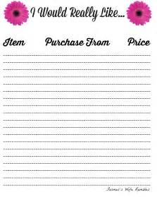 wish list template my wish list template images