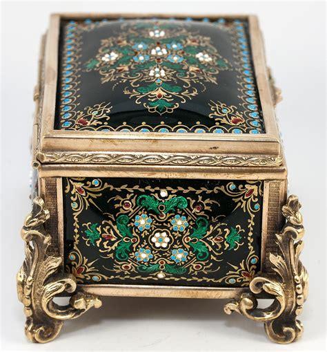 kiln for jewelry antique kiln fired enamel jewelry casket box