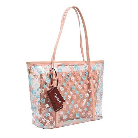 Pvc Tote Bag s semi clear pvc handbag shoulder bag tote