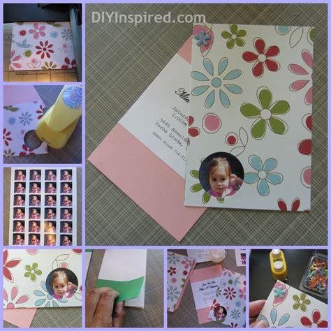 Handmade Photo Collage For Birthday - diy birthday invitations diy inspired