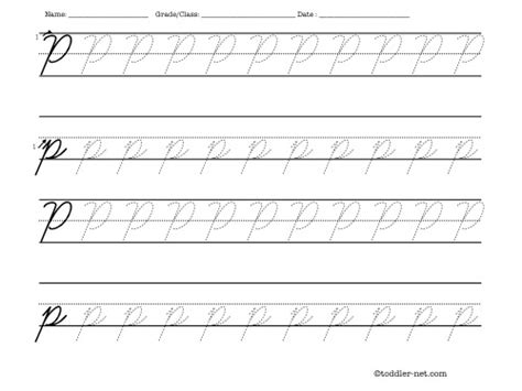 printable tracing letters cursive tracing worksheet cursive letter p