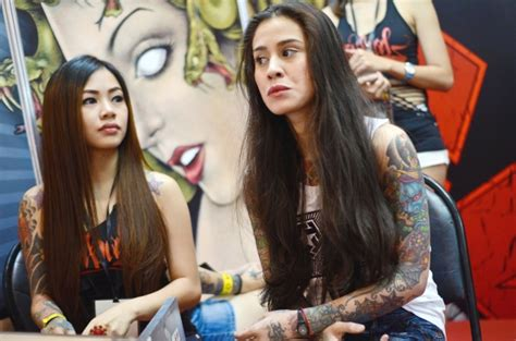 tattoo girl malaysia photos tattoo enthusiasts get to the point in manila