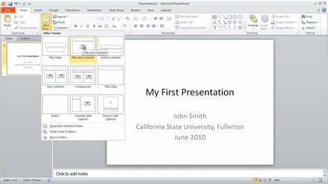 Powerpoint 2010 Tutorials Lessons Tes Teach Powerpoint 2010 Tutorial