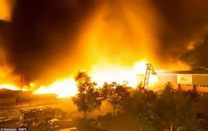edge  armageddon staggering pictures show firefighters battle   million