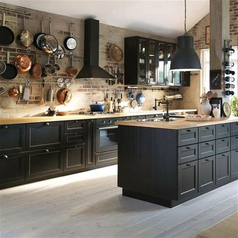 ikea black kitchen cabinets best 25 black kitchen cabinets ideas on gold