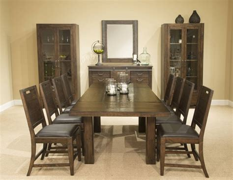 9pc dining room set magnussen home pine hill wood 9pc dining room set the classy home